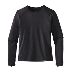 美国Patagonia巴塔儿童青少年保暖速干快速排汗抗菌滑雪运动内衣 黑色男孩上衣 XS(112-1