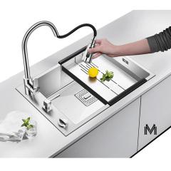 纳米抗菌大单槽不沾油水易清洁洗菜盆厨房手工水槽台下盆4mm加厚
