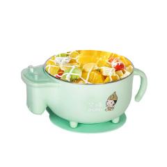 儿童餐具套装宝宝注水保温碗辅食碗防摔不锈钢吸盘碗婴儿碗勺套装