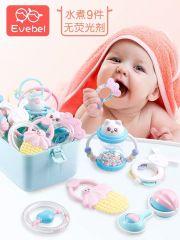 婴儿玩具高温水煮牙胶摇铃新生儿0-3-6-12个月宝宝玩具0-1岁益智